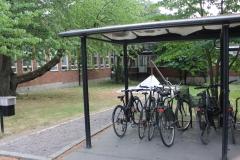 The bike shed at Nobels väg 9 (summer 2018)