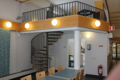 "The spiral stairway to ""Hyllan"" meeting room"