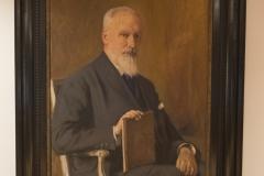 painting, Professor Carl Gustaf Santesson, Library Nana Svartz väg 2, level 2, May 2018