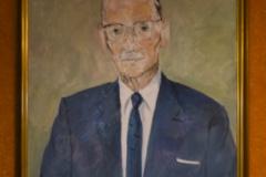 Painting, Professor Ulf von Euler, Library Nana Svartz väg 2, level 2, May 2018