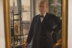 Painting, Professor Johan (Jöns) E Johansson, Library Nana Svartz väg 2, level 2, May 2018