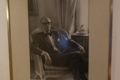 Photo, Professor Carl Gustaf Bernhard, Library Nana Svartz väg 2, level 2, May 2018