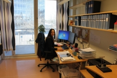 Natalia Demin in the HR Department office at MBB, June 2018