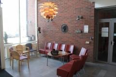 The reception area at MBB, scheeles väg 2