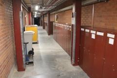 The basement corridor at MBB