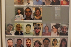 Portraits of MBB teachers as shown in the corridor to the MBB education quarters