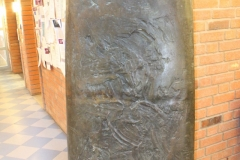 The enormous cast iron art piece from the MTC reception