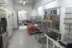 The autoclaving and dishwashing room at MTC