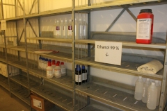 The chemical storage room on the second floor at MTC