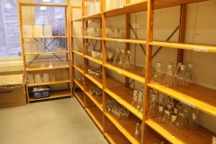 The glass storage room on the 2nd floor