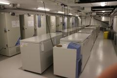 The MTC freezer room on the second floor