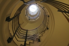 The spiral staircase at MTC