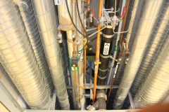 Pipes outside the BSL 3 laboratory