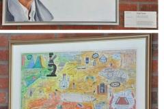 Research group leader Professor Kjell Fuxe portrait and artwork