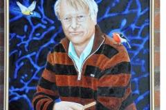Professor Lars Olson portrait by Zetterling
