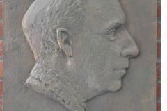 Cast-iron placard dedicated to Ture Petrén, Professor in Anatomy 1940-68