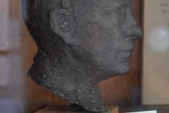 Artist Lennart Källströms bust of Ture Petrén used to create the placard
