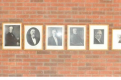 Portraits in place on the wall in Neuroscience April 2018