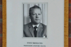 Sten Skoglund, Professor in Anatomy 1968-71