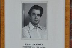 Johannes Rhodin, Professor in Anatomy 1976-80