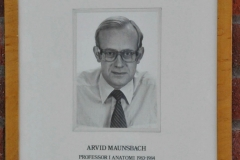 Arvid Maunsbach, Professor in Anatomy 1983-84